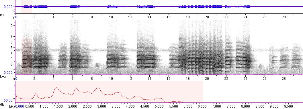 Sonogram of recording #AV 4886